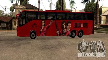 La Casa De Papel bus mod для GTA San Andreas