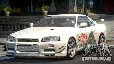 Nissan Skyline PSI R34 L1 для GTA 4