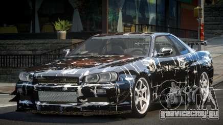 Nissan Skyline PSI R34 L10 для GTA 4