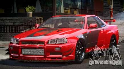 Nissan Skyline PSI R34 L7 для GTA 4