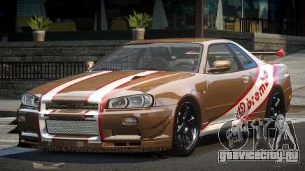 Nissan Skyline PSI R34 L3 для GTA 4