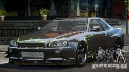 Nissan Skyline PSI R34 L9 для GTA 4