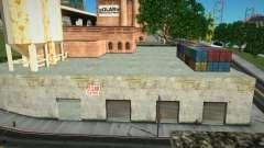 Открытый гаражный бокс в промзоне San Fierro для GTA San Andreas