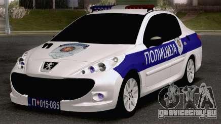 Peugeot 207 Policija для GTA San Andreas