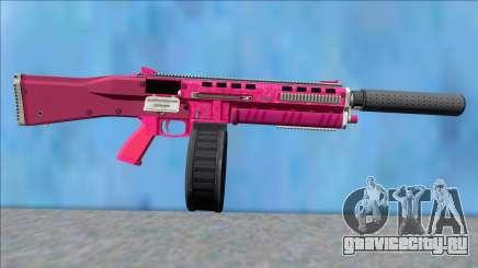 GTA V Vom Feuer Assault Shotgun Pink V7 для GTA San Andreas