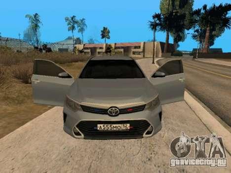TOYOTA CAMRY V55 3.5V6 для GTA San Andreas