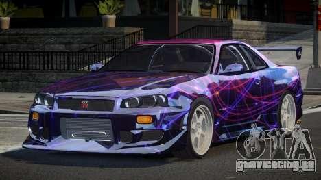 Nissan Skyline R34 GT-R PSI PJ3 для GTA 4