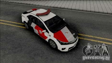 Toyota Corolla 2017 PMESP для GTA San Andreas