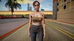 Claire Redfield Top Leopard для GTA San Andreas