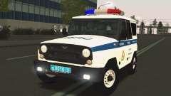 УАЗ Hunter ДПС служба эвакуации для GTA San Andreas