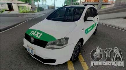 Volkswagen Spacefox 2012 Taxi для GTA San Andreas