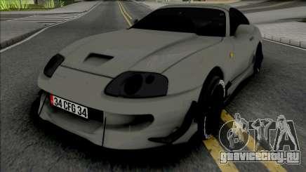 Toyota Supra MK4 Grey для GTA San Andreas