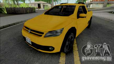 Volkswagen Saveiro G5 Yellow для GTA San Andreas