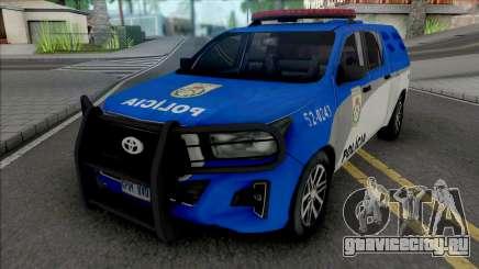 Toyota Hilux 2019 PMERJ Improved для GTA San Andreas