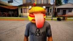 Fortnite Durr Burger Mask for Cj для GTA San Andreas