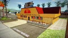 Новая текстура пиццерии в Идлвуде для GTA San Andreas
