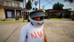 Racing Helmet Leopard для GTA San Andreas