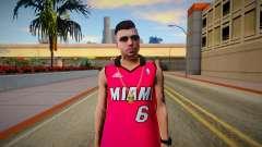 GTA Online Skin Ramdon N23 Male Miami Heat Lebro для GTA San Andreas