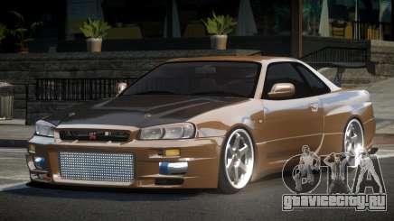 Nissan Skyline R34 BS GT-R V1.2 для GTA 4