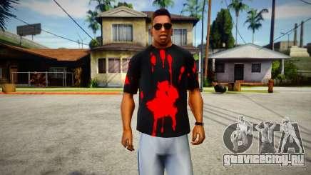Bloody Print T-Shirt для GTA San Andreas