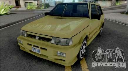 Fiat Uno [VehFuncs] для GTA San Andreas