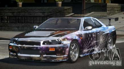 Nissan Skyline R34 BS U-Style PJ5 для GTA 4