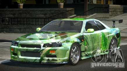 Nissan Skyline R34 BS U-Style PJ10 для GTA 4