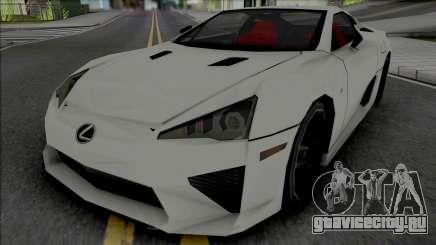 Lexus LFA 2011 SA Style [VehFuncs] для GTA San Andreas