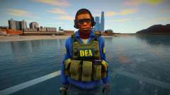 Retexture CS Skin to be a DEA для GTA San Andreas