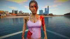Девушка - зомби из игры Resident Evil для GTA San Andreas