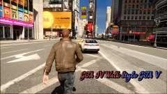 GTA IV Walk Style GTA V для GTA 4