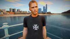 Paul Walker black shirt для GTA San Andreas