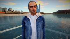 Trevor with blue jeans jacket from GTA 5 для GTA San Andreas