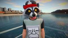 Faggot mask raccoon from GTA Online для GTA San Andreas