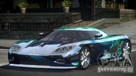 Koenigsegg CCX GST-R S2 для GTA 4