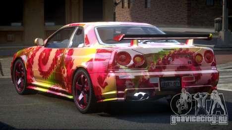 Nissan Skyline R34 PSI-U S2 для GTA 4