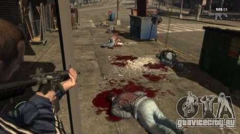 Blood Mod for GTAIV для GTA 4