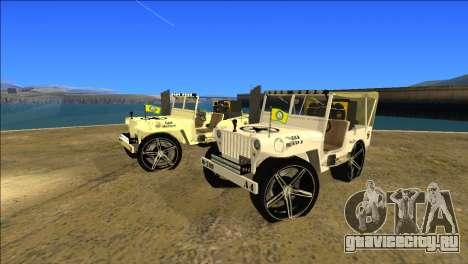 Punjabi Jeep Willy Mod by Harinder Mods для GTA San Andreas