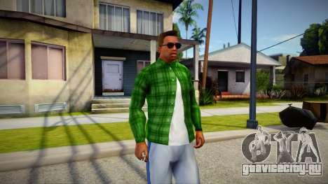 Green Plaid Shirt для GTA San Andreas