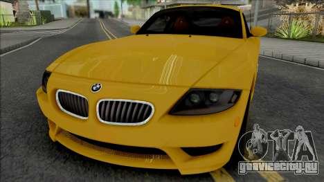 BMW Z4 M Coupe 2008 [IVF ADB VehFuncs] для GTA San Andreas