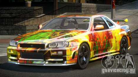 Nissan Skyline R34 PSI-U S9 для GTA 4