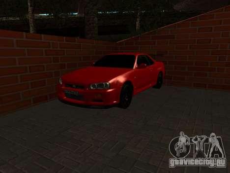 Nissan Skyline GTR34 RUS Plates для GTA San Andreas