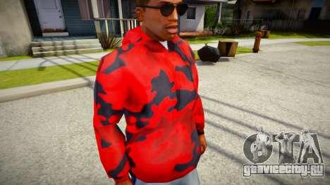 Red Camo Hoodie для GTA San Andreas