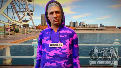 Purple sweatshirt ped from GTA Online для GTA San Andreas