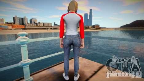 Девушка в серых джинсах из GTA Online для GTA San Andreas