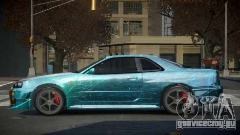 Nissan Skyline R34 PSI-S S8 для GTA 4