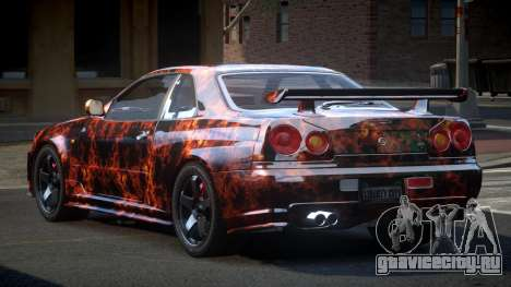 Nissan Skyline R34 PSI-U S4 для GTA 4