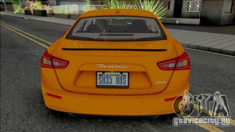 Maserati Ghibli III Taxi для GTA San Andreas
