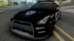 Nissan GT-R Black Edition Police