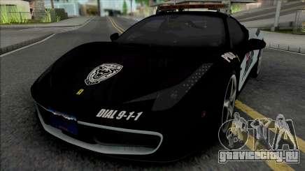 Ferrari 458 Italia Police для GTA San Andreas